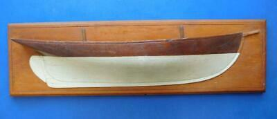 Antique Carved Wood Half Hull Ships Model Yacht Wall Plaque 1900s