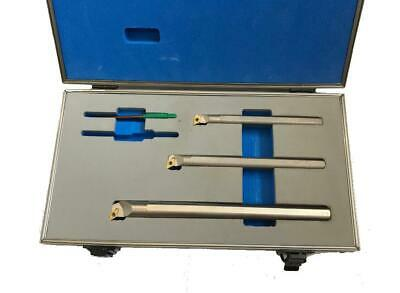 Rdgtools New 3Pc Indexable Lathe Boring Bar Set Silver 10Mm, 12Mm, 16Mm