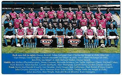 Aston Villa Football Team Photo 1998-99 Season