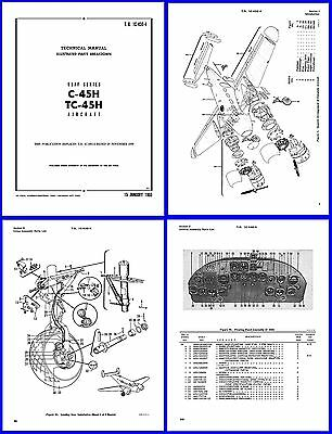 C-45H EXPEDITOR TWIN Beech Model D18S Illustrated Parts Catalog on CD