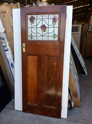 Leadlight  Door The Rose