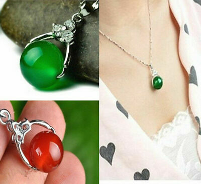 100% Natural Jade pendant Fine jewelry Necklace Ball Lucky crystal pendant