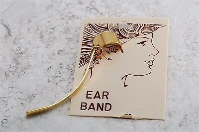 Retro 1980's Ear Cuff Ear Band New Old STock GOld Tone Metal Jewelry Accessory