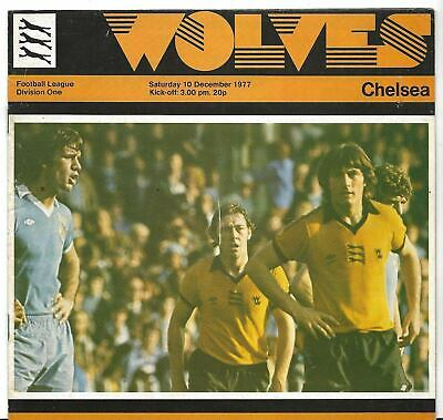 Football Programme>WOLVES v CHELSEA Dec 1977