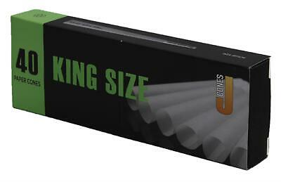 Pure paper Thin pre Rolled Cones JWARE® 40 Pcs King 109mm Large Size