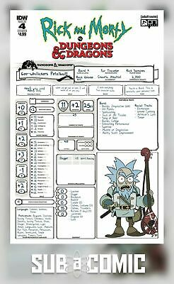 RICK & MORTY VS DUNGEONS & DRAGONS #4 COVER B LITTLE (IDW 2019 1st Print) COMIC