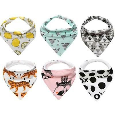 Baby Child Cotton Bandana Bibs Feeding Saliva Towel Dribble Waterproof Towel NEW
