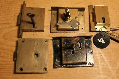Antique/Vintage~Furniture Locks & Keys~Cupboard~Drawers~Restoration~Job Lot~1~