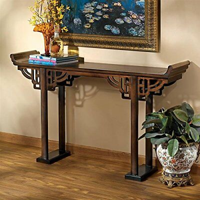 MH10694 - Forbidden City Asian Console Table - Ming Dynasty Replica - Walnut