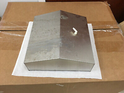 """Stainless Gassing Water Bath Cover / Hood 11.25"""" Square, Used VG"""
