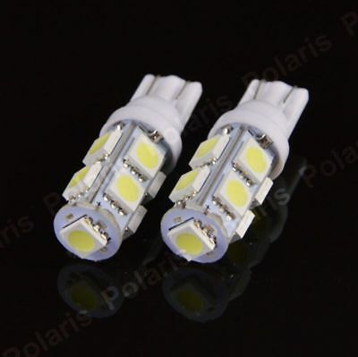 2 x T10 W5W 501 9 SMD 5050 LED HIGH POWER CANBUS CAR SIDE LIGHT WEDGE WHITE BULB