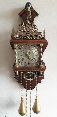 Warmink Clock Zaanse Dutch Wubba Chain Driven Bell Strike 8 Day Pendule