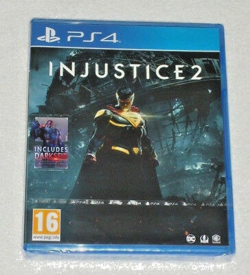 Sony Playstation Ps4 Game Injustice 2 Includes Bonus Darkseid Content Download.*