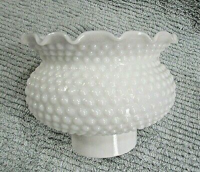 Old clear swirl textured pattern vintage glass light fixture globe shade FREE SH