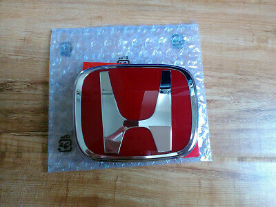 Js racing RED TYPE R FRONT GRILL BADGE EMBLEM HONDA CIVIC EP3 EP2 EP1 ACCORD CL7