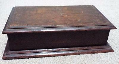 Antique Wooden Bridge Playing Card Box / Casket