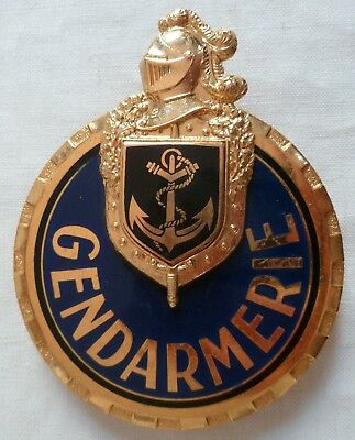 Plaque de baudrier Insigne GENDARMERIE MARITIME Drago OBSOLETE Collection