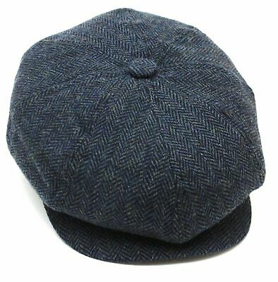 Tommy Shelby Peaky Blinders Newsboy Cap Herringbone Wool Blend 3 Colours Quality