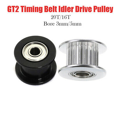 GT2 16T 20T Timing Belt Aluminum Drive Idler Pulley With Bearing for 3D Printer