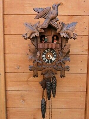 Lovely Quality Vintage D. Hones West German Cuckoo Gravity Wall Clock