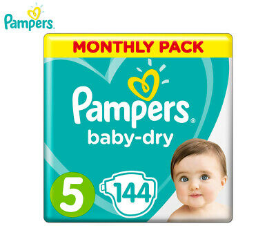 Pampers Baby-Dry Walker Size 5 11-16kg Nappies 144-Pack
