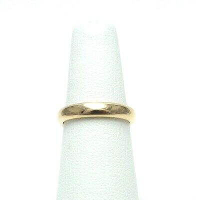 Art Nouveau JR Woods & Sons 14K Gold 3.8mm Round Wedding Band Ring Size 6.25