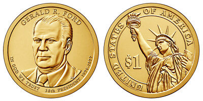 2016 Denver Gerald Ford Presidential One Dollar Coin U.S. Mint Coin Money Coins