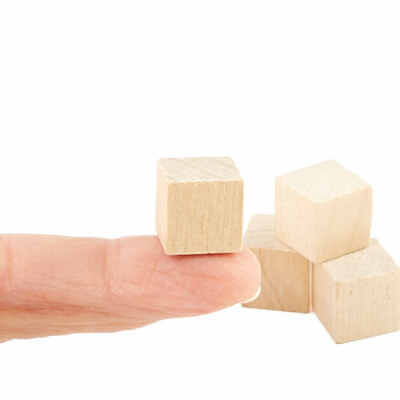 Factory Direct Craft Bulk Unfinished Wood Cubes | Package of 10000 Pieces