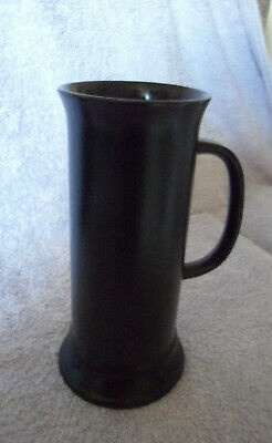 Rare Tall Black Sylvac Vase With Handle. 21 Cm Tall.no 3835. Very Good .