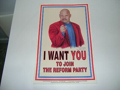 Jesse Ventura I Want You To Join The Reform Party Poster