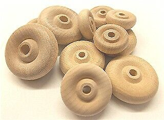 Factory Direct Craft Bulk Unfinished Wood Toy Wheels | 2300 Total Pieces