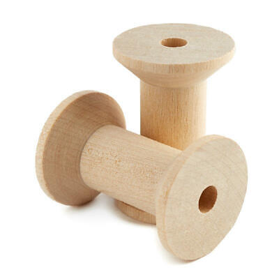 Factory Direct Craft Bulk Unfinished Wood Spools | Package of 800 Pieces