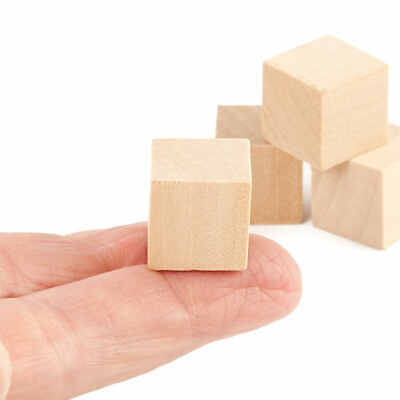 Factory Direct Craft Bulk Unfinished Wood Cubes | Package of 5000 Pieces