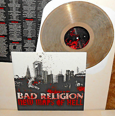 BAD RELIGION new maps of hell LP Record SMOKE Swirled Vinyl with lyrics insert