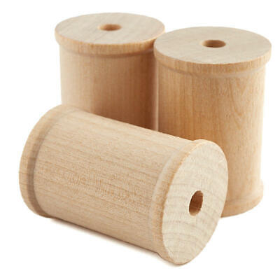 Factory Direct Craft Bulk Unfinished Wood Spools | Package of 500 Pieces