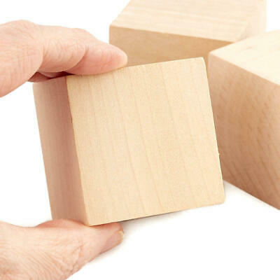 Factory Direct Craft Bulk Unfinished Wood Cubes | Package of 200 Pieces