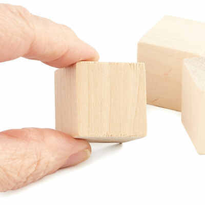 Factory Direct Craft Bulk Unfinished Wood Cubes | Package of 1400 Pieces