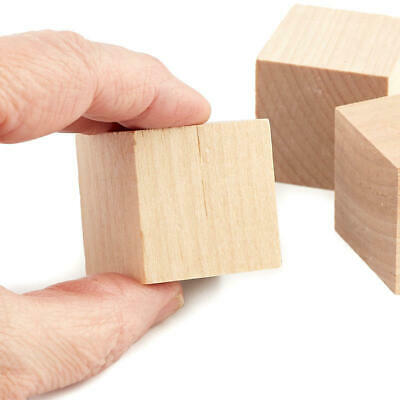Factory Direct Craft Bulk Unfinished Wood Cubes | Package of 800 Pieces