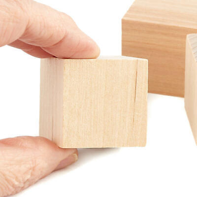 Factory Direct Craft Bulk Unfinished Wood Cubes | Package of 500 Pieces