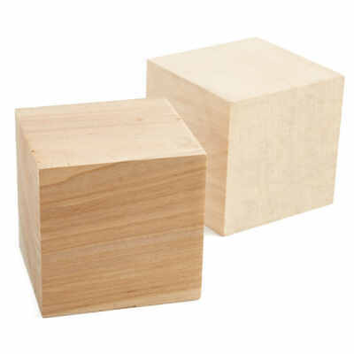 Factory Direct Craft Bulk Unfinished Wood Cubes | Package of 50 Pieces