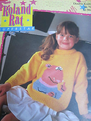 R234 Robin Knitting Pattern: Child/'s Kevin the Gerbil Sweater DK 22-30/""