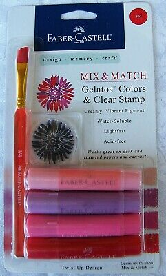 FABER-CASTELL Mix & Match Gelatos Colors - Design Memory Craft Mixed Media Reds