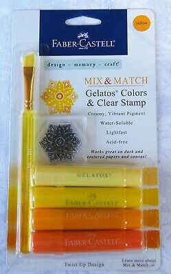 FABER-CASTELL Mix & Match Gelatos - Design Memory Craft Mixed Media Yellows