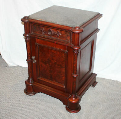 Antique Victorian Marble top half Commode or Night Stand - Beautiful