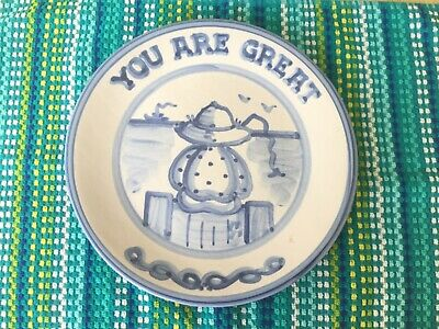 """Hadley Pottery 11"""" - Special """" You Are Great"""" Plate - Fisherman Pier - New!!!"""