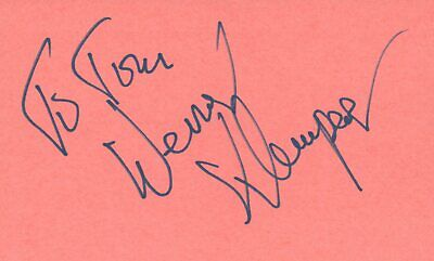 Werner Klemperer Actor Singer TV Movie Autographed Signed Index Card JSA COA