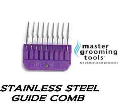 """MGT 1/4""""Stainless Steel Attachment Guide Comb Fit MOST Oster,Andis,Wahl Clippers"""