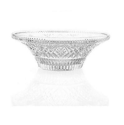 """Marquis by Waterford Heritage 11"""" Wedge Cut Crystal Low Centerpiece Bowl"""