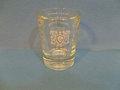 Single Vintage Small Clear Barclay's Shot Glass w/Measuring Lines