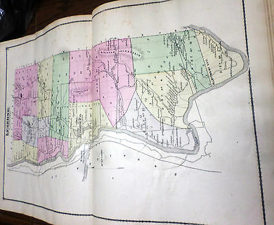 1876 Maps Towns  Of Luzerne, Caldwell, & Hamlet Stony Creek  Ny Warren Co